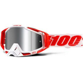 100% Racecraft Goggles Plus Injected rød/Hvit